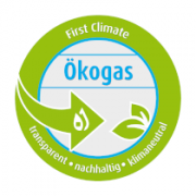 Siegel First Climate-Ökogas