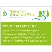 Siegel - Naturstrom Wasser und Wald